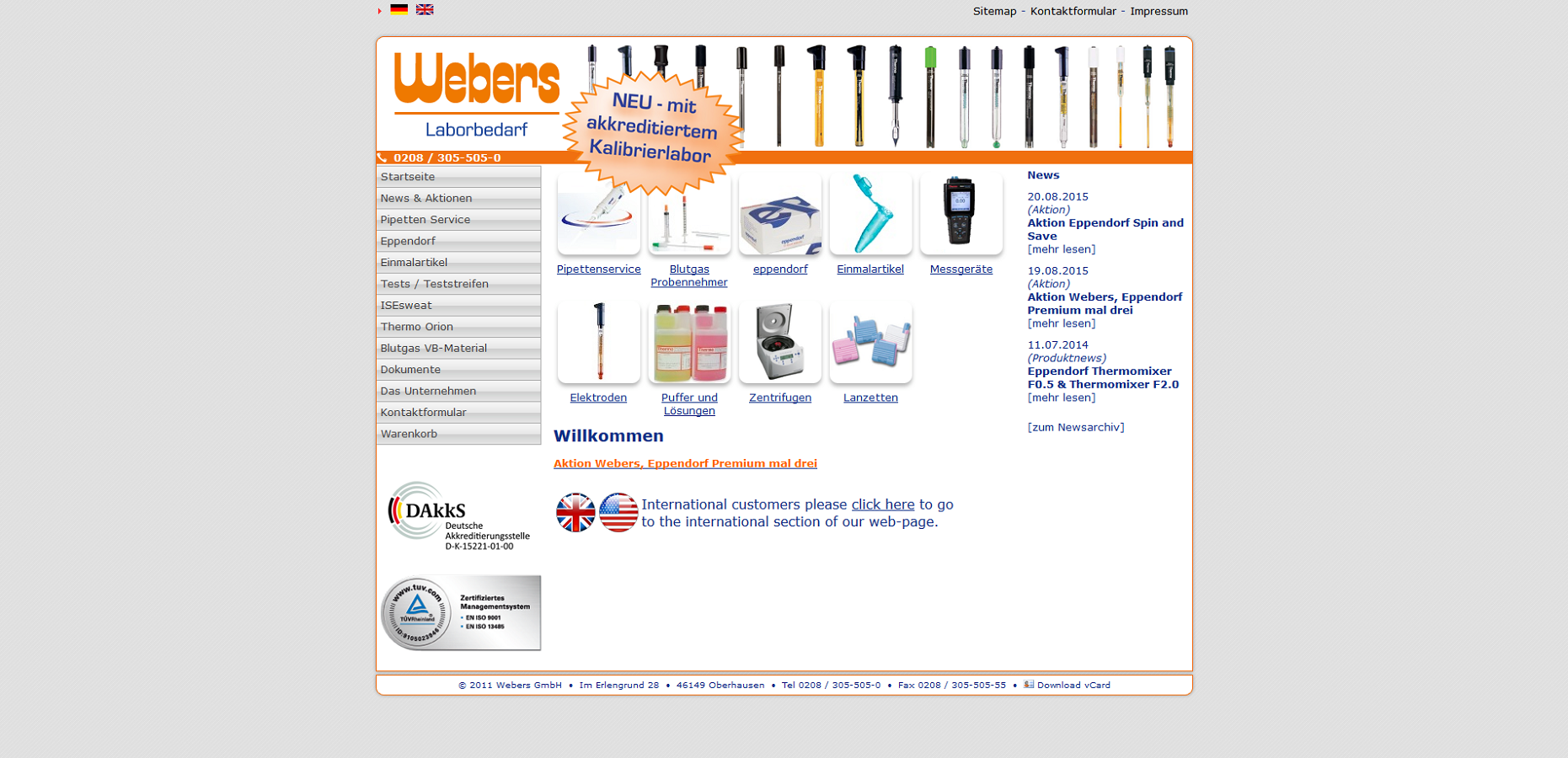 Webdesign / CMS Referenz von liquid pixels - IT Services - Bottrop